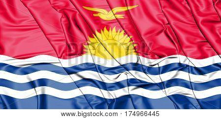 3D Flag Of The Kiribati. 3D Illustration.