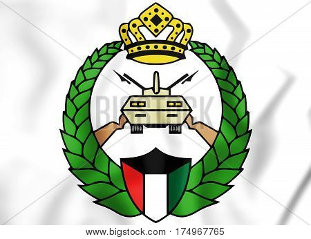 Emblem Of Kuwaiti National Guard. 3D Illustration.