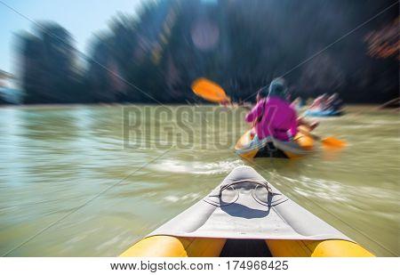 Kayak Boat Tourism