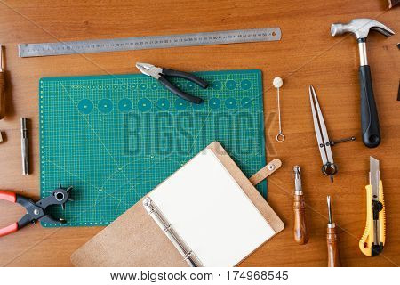 Set of diy tools for leathercraft