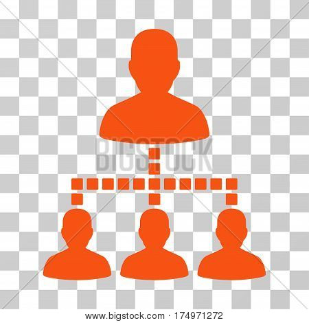 People Hierarchy icon. Vector illustration style is flat iconic symbol, orange color, transparent background. Designed for web and software interfaces.