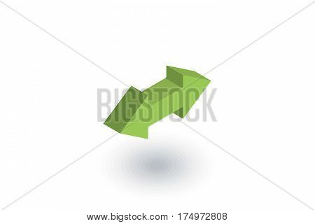 Arrow Exchange isometric flat icon. 3d vector colorful illustration. Pictogram isolated on white background