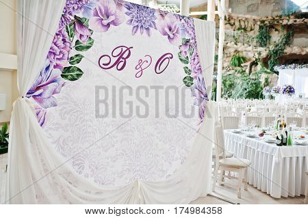 Wedding Photo Frame Or Banner For Guests.