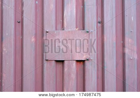 Corrugated metal sheet and metal plate. Textured background.