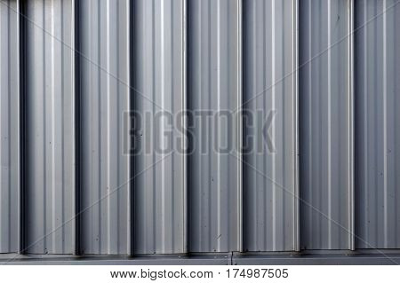Corrugated metal sheet. Textured background.
