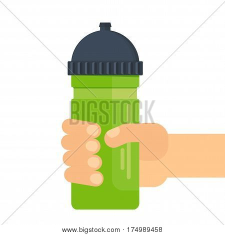Hand Holding Sport Bottle