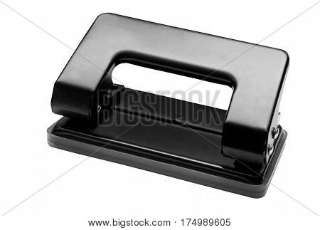Image of a black hole puncher isolated on white background