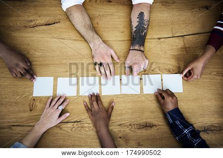 Group of People Teamwork Concept