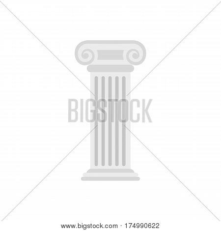 Roman column icon isolated on white background vector illustration