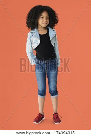 Little Girl Posing Smiling Cute