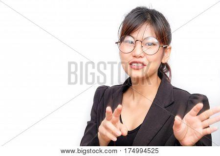 Business Glasses Women Explaining Something To Audiences