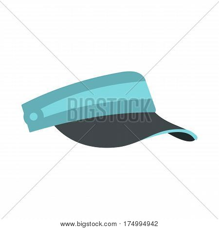 Sun cap icon isolated on white background vector illustration