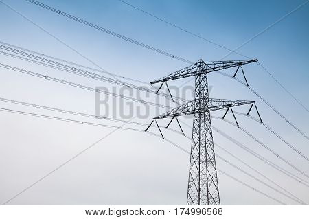 Electricity Pylon. Steel Lattice Tower