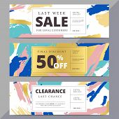 Creative luxury abstract social media web banners for website header or newsletter ad. Email promotion or sale background for online shop store. Promotional offer flyer layout. Vector template design. poster