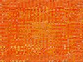 Orange plastic foil with checkers pattern - digital illustration poster
