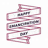 Happy Emancipation day emblem isolated illustration on white background. 19 june USA feminine holiday event label, greeting card decoration graphic element poster