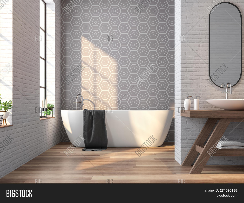 Vintage Bathroom 13d Image & Photo (Free Trial)   Bigstock