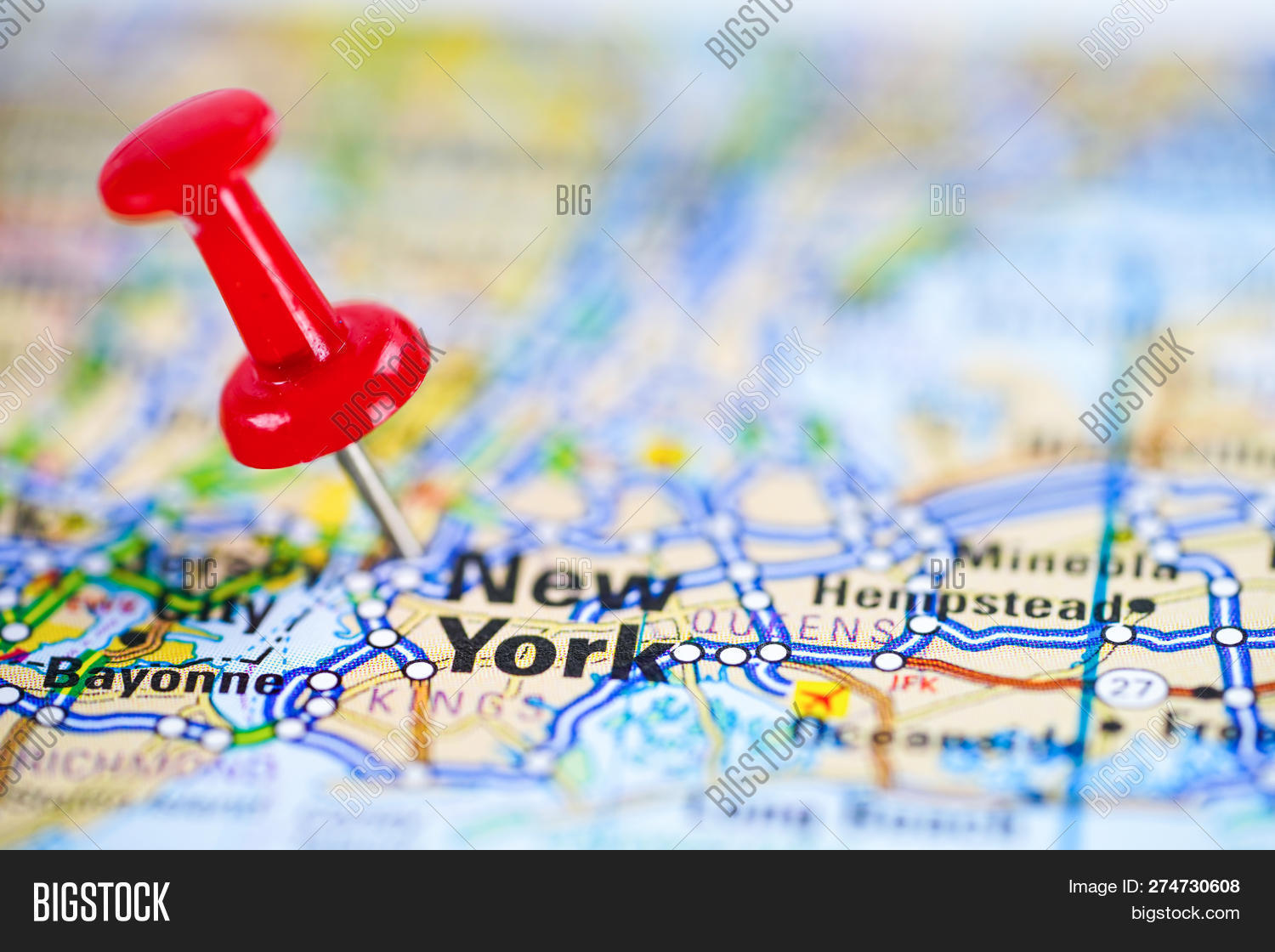 New York, Road Map Red Image & Photo (Free Trial) | Bigstock