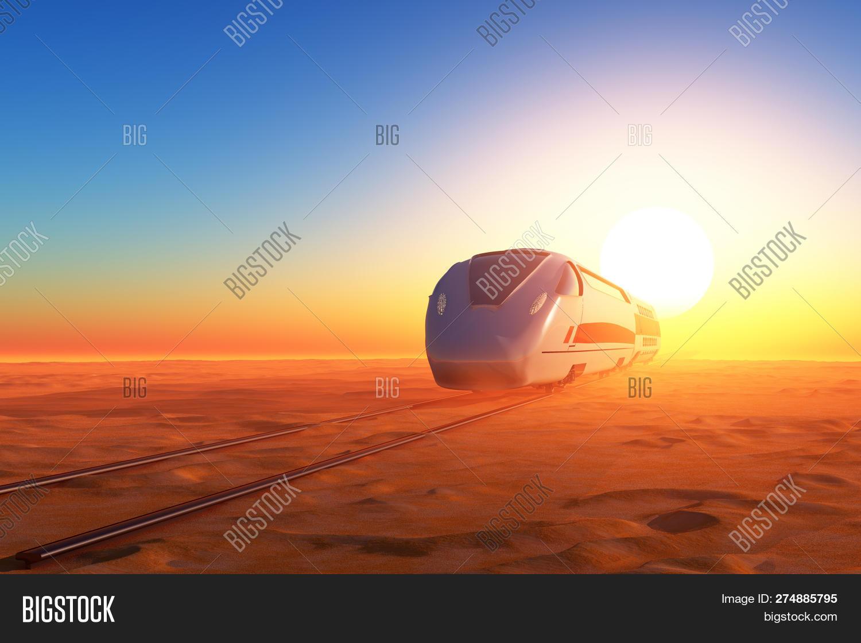 Modern Train Desert 3d Image & Photo (Free Trial) | Bigstock