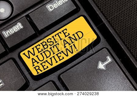 Handwriting Text Writing Website Audit And Review. Concept Meaning Evaluation Of Web Pages Feedback