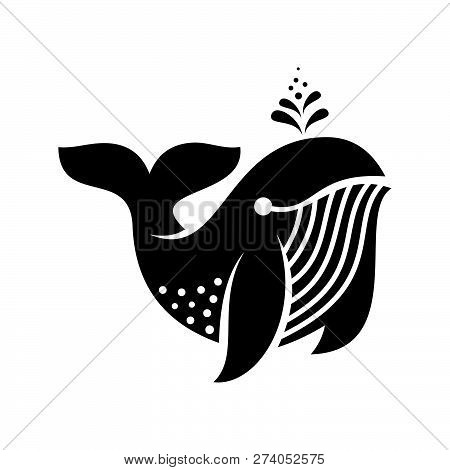 Whale Vector Icon On White Background. Whale Icon In Modern Design Style. Whale Vector Icon Popular