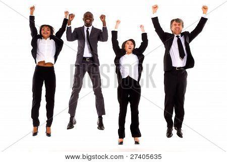 Multi Ethnic Team Rejoiced
