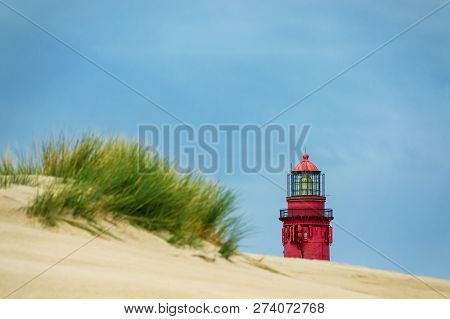 Lighthouse In Wittduen On The Island Amrum, Germany.