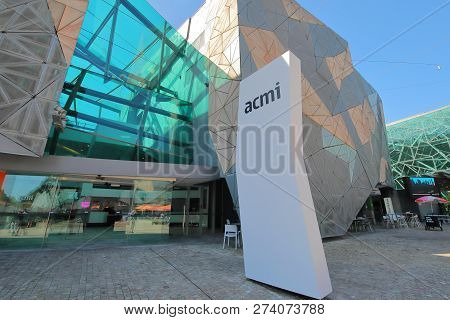 Melbourne Australia - November 26, 2018: Acmi Australian Centre For The Moving Image Federation Squa