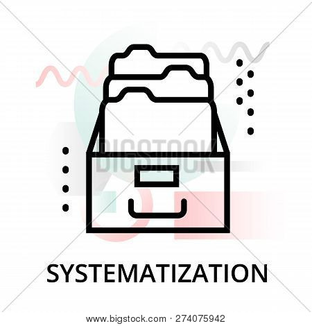 Systematization Concept Icon On Abstract Background From Science Icons Set, For Graphic And Web Desi