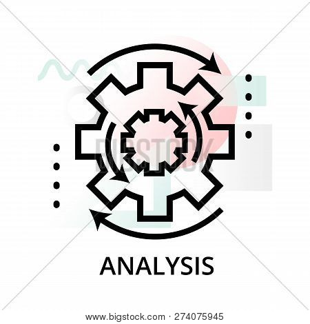 Analysis Concept Icon On Abstract Background From Science Icons Set, For Graphic And Web Design, Mod