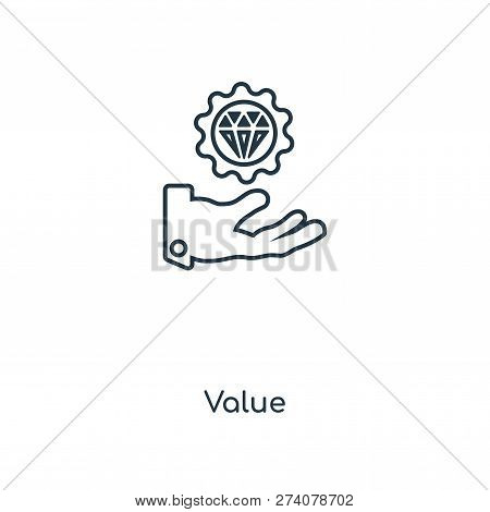 Value Icon In Trendy Design Style. Value Icon Isolated On White Background. Value Vector Icon Simple