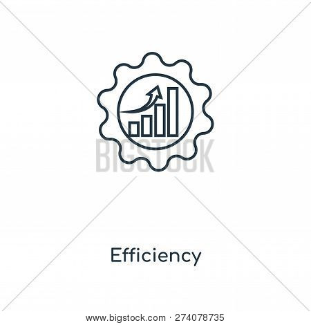 Efficiency Icon In Trendy Design Style. Efficiency Icon Isolated On White Background. Efficiency Vec