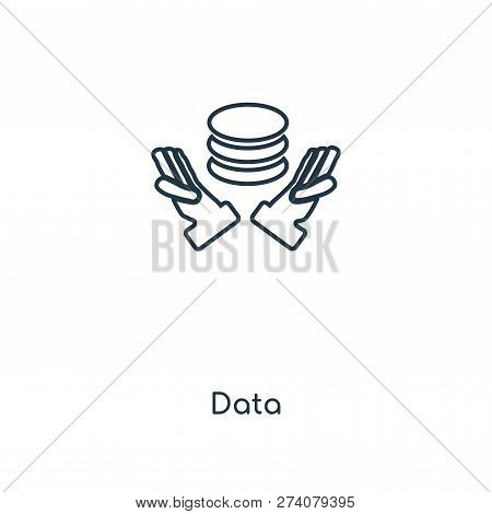 Data Icon In Trendy Design Style. Data Icon Isolated On White Background. Data Vector Icon Simple An
