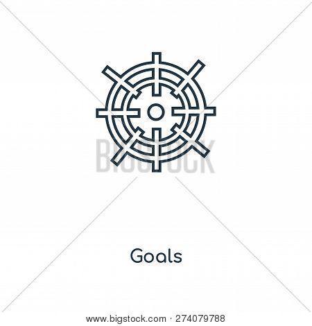 Goals Icon In Trendy Design Style. Goals Icon Isolated On White Background. Goals Vector Icon Simple