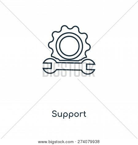 Support Icon In Trendy Design Style. Support Icon Isolated On White Background. Support Vector Icon