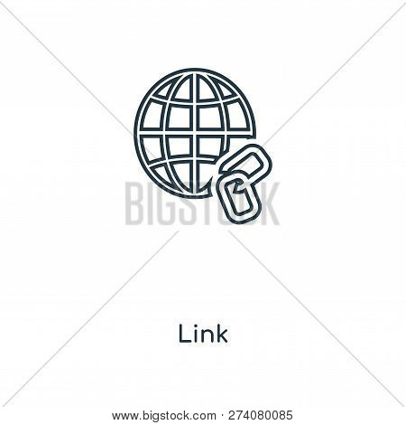 Link Icon In Trendy Design Style. Link Icon Isolated On White Background. Link Vector Icon Simple An