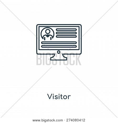 Visitor Icon In Trendy Design Style. Visitor Icon Isolated On White Background. Visitor Vector Icon