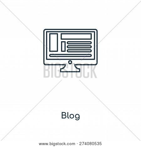 Blog Icon In Trendy Design Style. Blog Icon Isolated On White Background. Blog Vector Icon Simple An