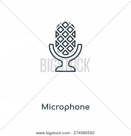 Microphone Icon In Trendy Design Style. Microphone Icon Isolated On White Background. Microphone Vec