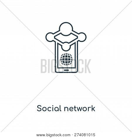 Social Network Icon In Trendy Design Style. Social Network Icon Isolated On White Background. Social