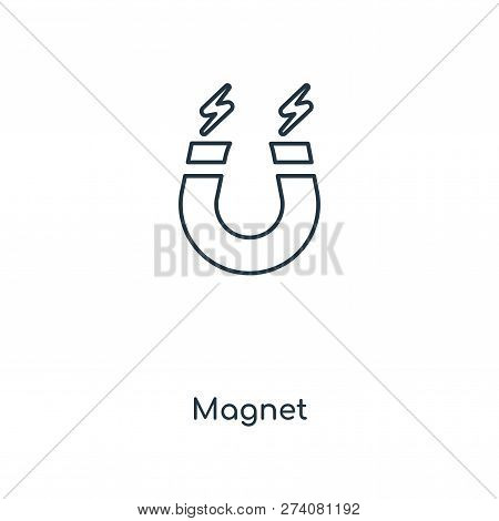 Magnet Icon In Trendy Design Style. Magnet Icon Isolated On White Background. Magnet Vector Icon Sim