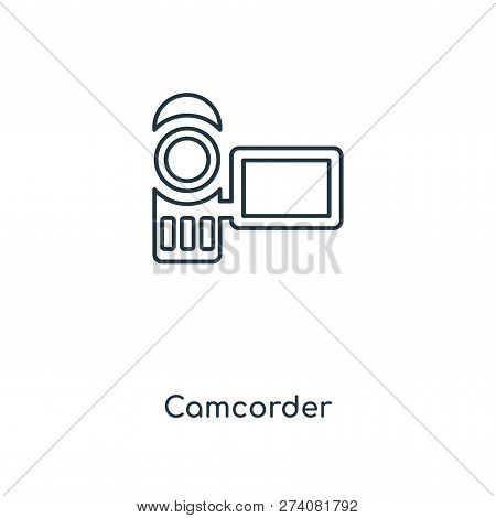 Camcorder Icon In Trendy Design Style. Camcorder Icon Isolated On White Background. Camcorder Vector