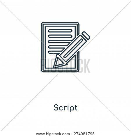 Script Icon Trendy Vector & Photo (Free Trial) | Bigstock