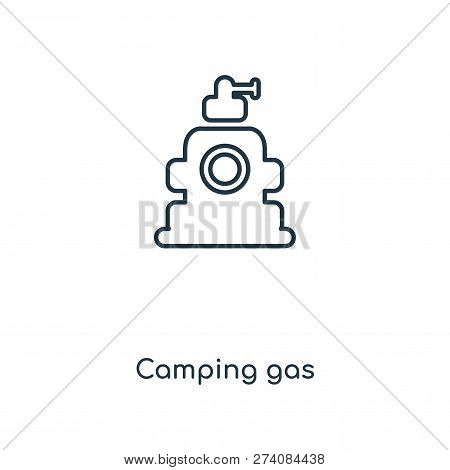 Camping Gas Icon In Trendy Design Style. Camping Gas Icon Isolated On White Background. Camping Gas