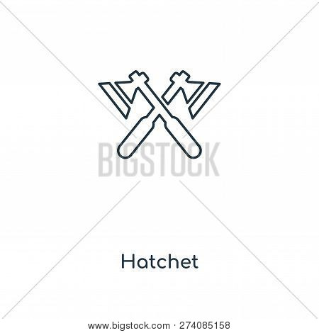 Hatchet Icon In Trendy Design Style. Hatchet Icon Isolated On White Background. Hatchet Vector Icon