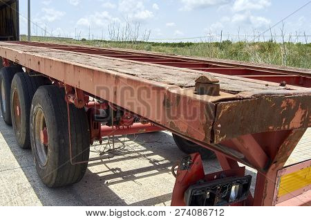 old truck chassis outdoor in the Spain poster