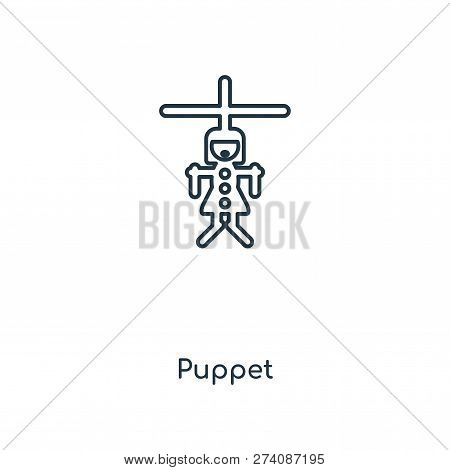 Puppet Icon In Trendy Design Style. Puppet Icon Isolated On White Background. Puppet Vector Icon Sim