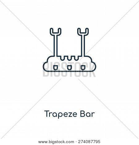 Trapeze Bar Icon In Trendy Design Style. Trapeze Bar Icon Isolated On White Background. Trapeze Bar