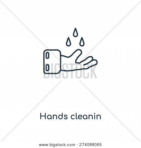 Hands Cleanin Icon In Trendy Design Style. Hands Cleanin Icon Isolated On White Background. Hands Cl