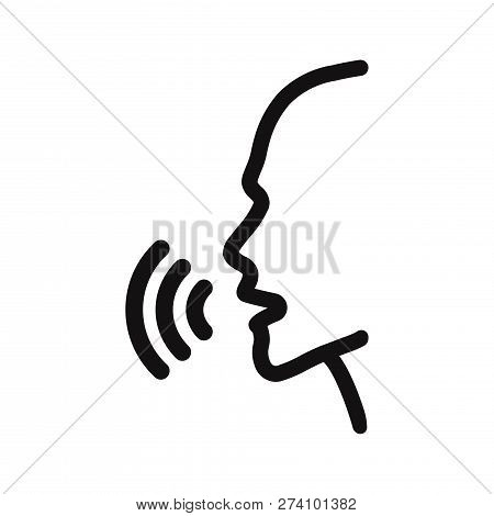 Voice Recognition Icon Isolated On White Background. Voice Recognition Icon In Trendy Design Style.